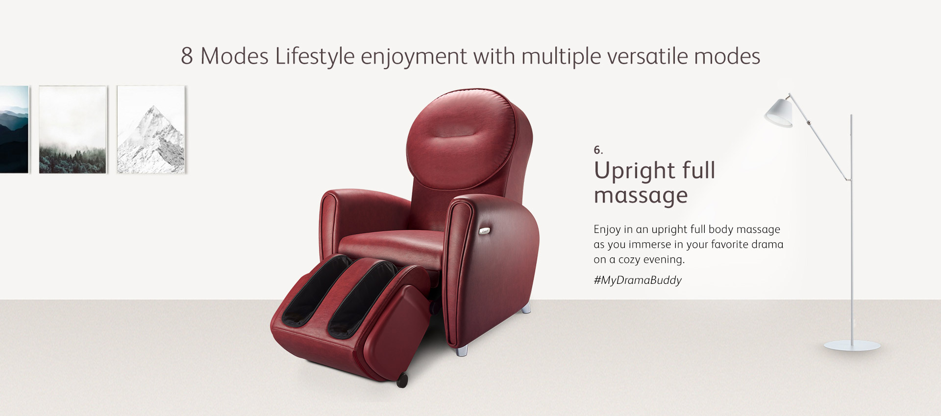 Independently Controlled Backrest Withinnovative Massage Technology